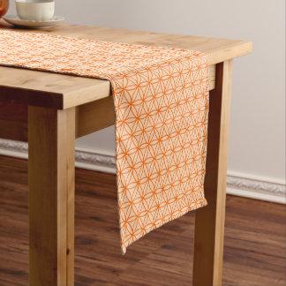 Orange Circular Line Design Short Table Runner