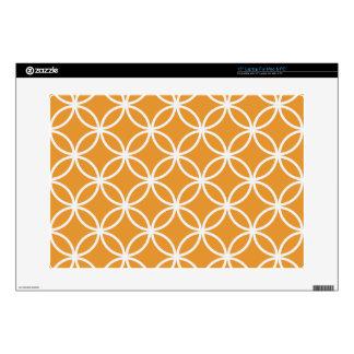 Orange Circular Pattern Laptop Skins