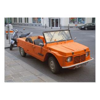 Orange Citroën Mehari Business Card Templates