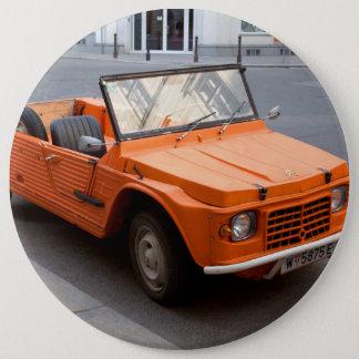Orange Citroen Mehari Button