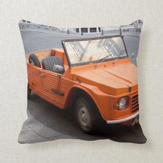 Orange Citroen Mehari Throw Pillow