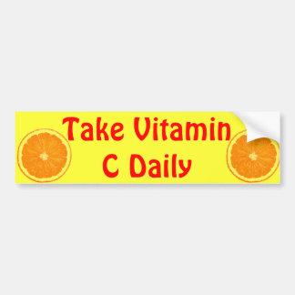 Orange citrus bumper sticker