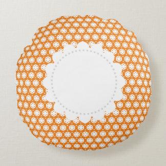 Orange Citrus Comfort Round Pillow