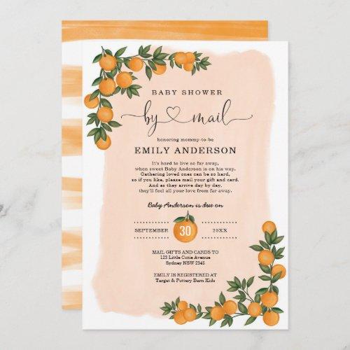Orange Citrus Cutie Baby Shower By Mail Quarantine Invitation