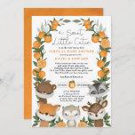 Orange Citrus Forest Animals Virtual Baby Shower Invitation