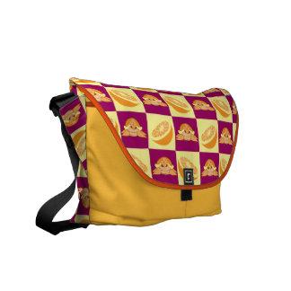 Orange Citrus Fruit Turtle Pattern Courier Bag