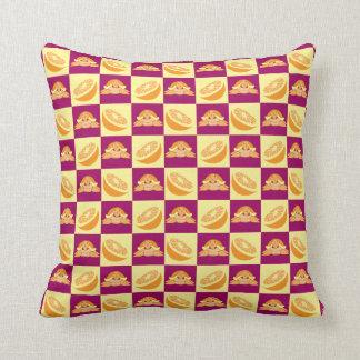 Orange Citrus Fruit Turtle Pattern Pillows