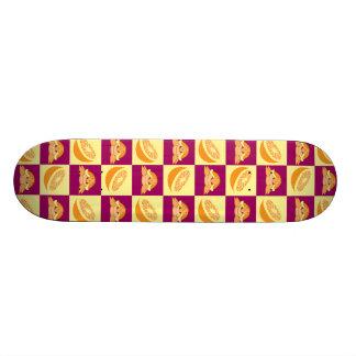 Orange Citrus Fruit Turtle Pattern Skate Board Deck