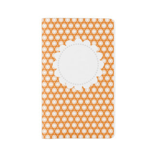 Orange Citrus Geometry Large Moleskine Notebook Cover With Notebook