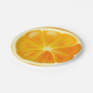 Orange Citrus Slice on Paper Plates