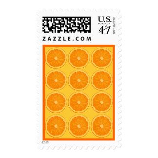 Orange citrus stamp
