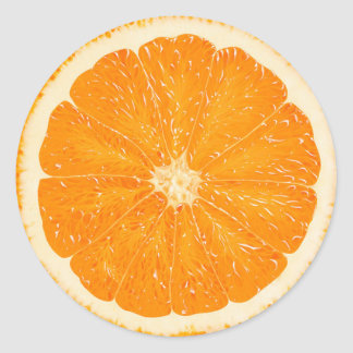 Orange citrus sticker
