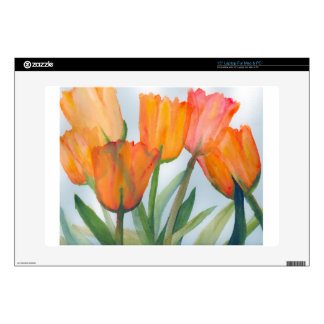 Orange Citrus Tulips Decals For Laptops