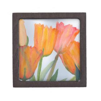Orange Citrus Tulips Gift Box