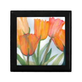 Orange Citrus Tulips Keepsake Box