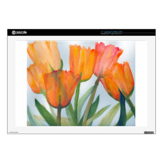 Orange Citrus Tulips Skins For Laptops