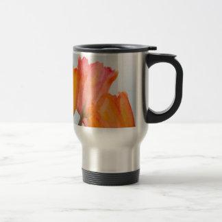 Orange Citrus Tulips Travel Mug