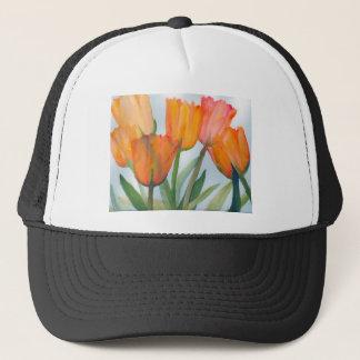 Orange Citrus Tulips Trucker Hat