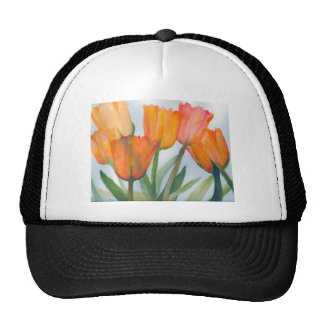 Orange Citrus Tulips Trucker Hat