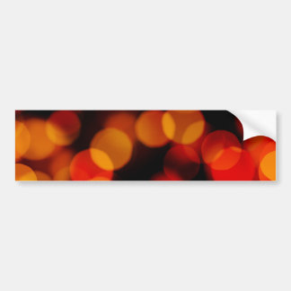 Orange City Lights Reflections Bumper Sticker
