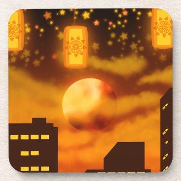 Halloween Themed Orange City Nights Coaster