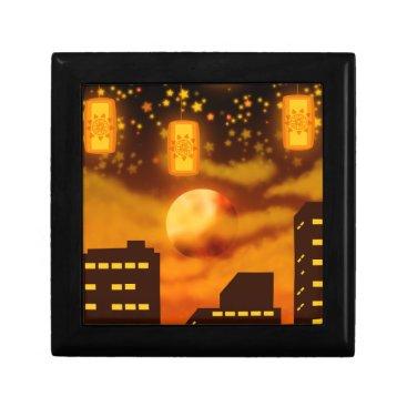 Halloween Themed Orange City Nights Keepsake Box