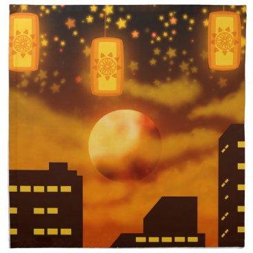 Halloween Themed Orange City Nights Napkin