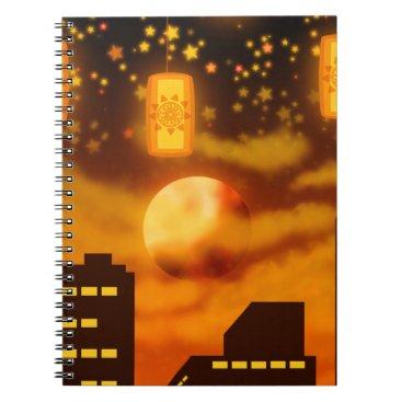 Halloween Themed Orange City Nights Notebook