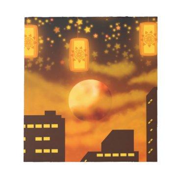 Halloween Themed Orange City Nights Notepad