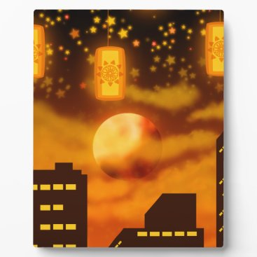 Halloween Themed Orange City Nights Plaque