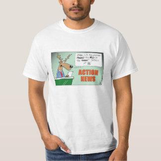 Orange Clad Maniacs Hunting Cartoon! Tee Shirt