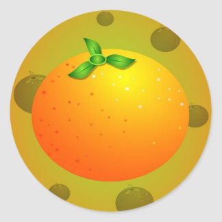 Orange Classic Round Sticker