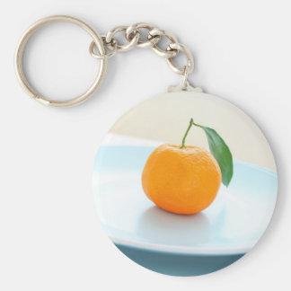 Orange clementine close up keychain