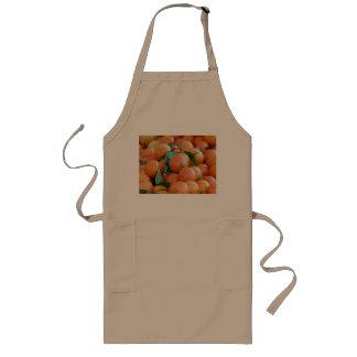 Orange clementines, tangerines wild duck green long apron