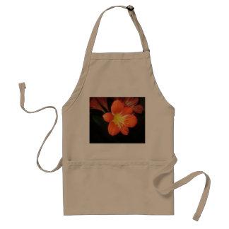 Orange Clivia Kaffir Lily Adult Apron