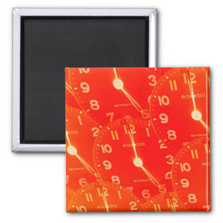 Orange Clock Face Magnet