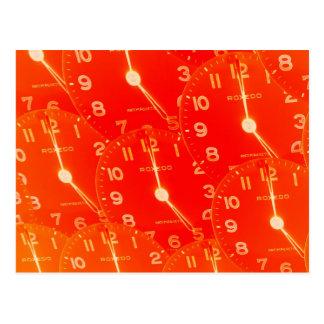 Orange Clock Face Postcard