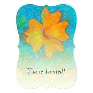 Orange Clock Flower Vine Card