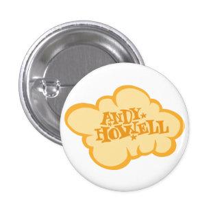 Orange Cloud 1 Inch Round Button