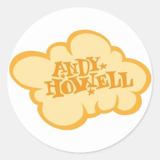 Orange Cloud Classic Round Sticker