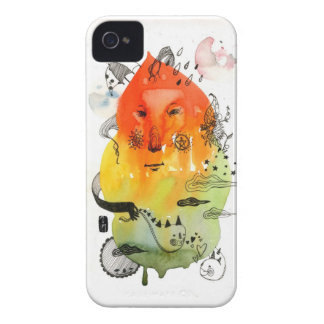 Orange Cloud iPhone 4 Case-Mate Case