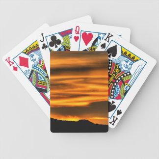 Orange Cloud Lines Bicycle Playing Cards