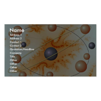 Orange cloud Orbit Double-Sided Standard Business Cards (Pack Of 100)