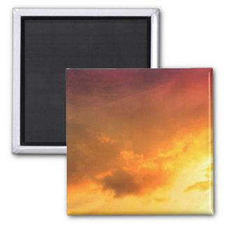 Orange Clouds Magnet