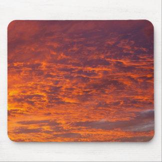 Orange clouds mousepad