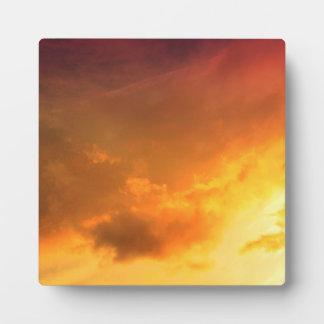 Orange Clouds Display Plaque