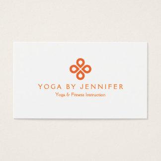 ORANGE CLOVER LOGO on WHITE Business Card