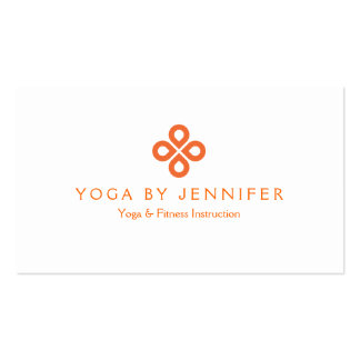 ORANGE CLOVER LOGO on WHITE Double-Sided Standard Business Cards (Pack Of 100)