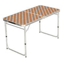 Orange Clover Ribbon Beer Pong Table