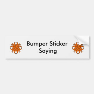 Orange Clover Ribbon Bumper Sticker